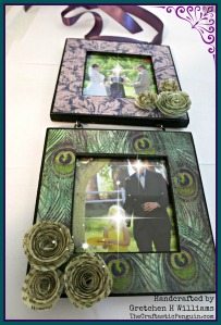 2013 - Decopage Frame + Paper Roses