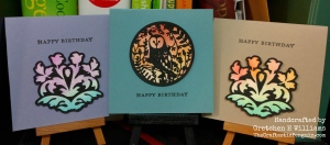 Flower and Owl Cards