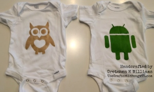 Owl and Android Onsies