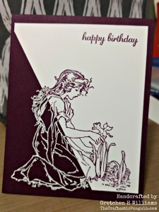 Two-Tone Purple Lady Birthday Card