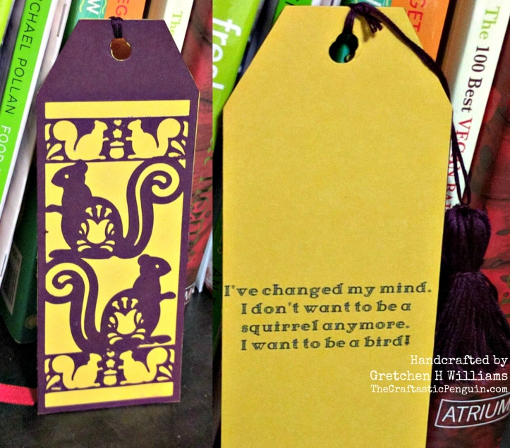 Squirrel Bookmark Collage
