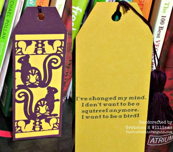 Squirrel Bookmark Collage