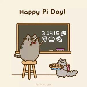 Pusheen Pi Day