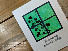 Alcohol Ink Window Card