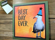 Birthday Seagull Gift Card Holder Watermark