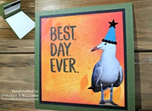 Birthday Seagull Gift Card Holder Watermark