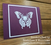Butterfly Embossed Card