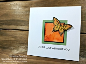 Butterfly Square Card