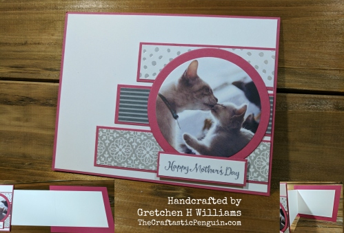 Mothers Day Cat Fun Fold Card Watermark
